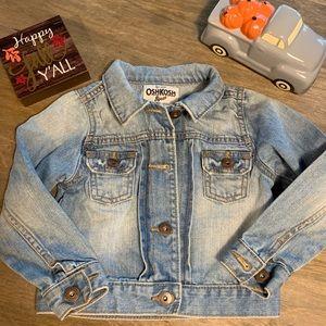 Little girls size 4T Osh Kosh Jean jacket
